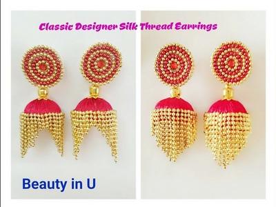 How to make Classic Designer Silk Thread Earrings