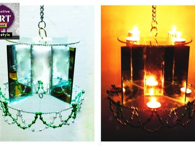 How to make diya stand | Hanging diya stand | Art with Creativity