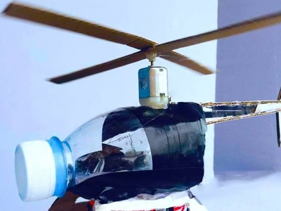 How To Make Helicopter By Plastic Bottle - Electric Motor Helicopter - Easy