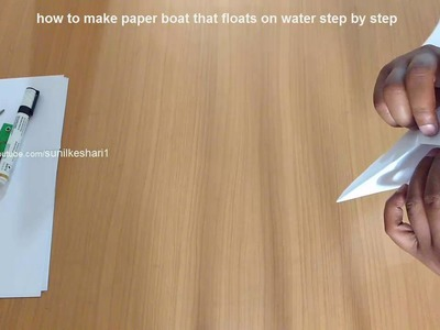 How to make paper boat that floats on water step by step