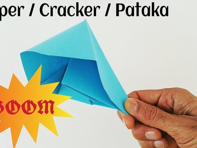 How to make paper pataka step by step