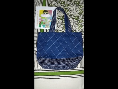 How To Make Quilted Tote Hand Bags With Zip