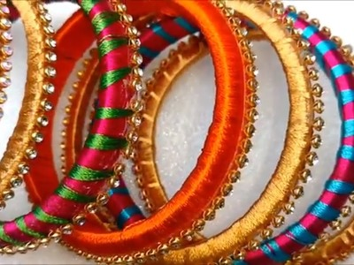 How to make silk thread bangles | making silk thread bangles, silk thread bangles making tutorial