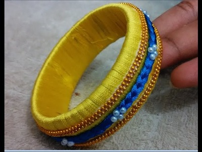 How to make silk thread bangles | zig zag silk thread bangles, silk thread bangles designs making