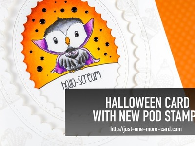 How to Mount Rubber Stamps on your MISTI + Halloween Card with new POD Stamps