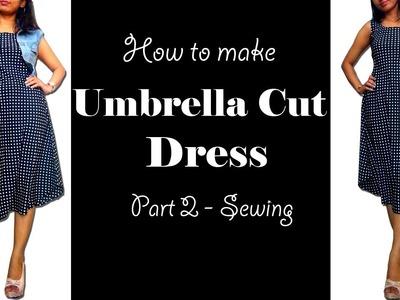 How to Sew Umbrella Cut Dress   Umbrella Dress Sewing