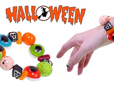 Making a Spooky Gummy Candy Halloween Bracelet | How To Make DIY Crafts for Kids with DCTC