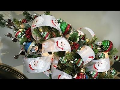 Mini Santa Christmas Tree - How To Decorate A Small Christmas Tree