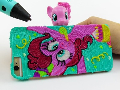 My Little Pony How to Draw Pinkie Pie iPhone Case with 3D Pen Coloring video for kids