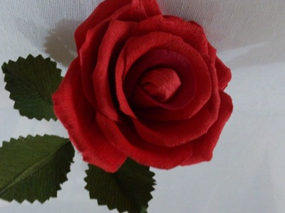 Paper flower making at home easy, tutorial, decorations, paper rose flower making.
