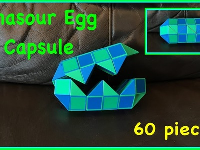 Smiggle Python Puzzle or Rubik's Twist 60 Tutorial: How to Make a Dinasour Egg or Capsule
