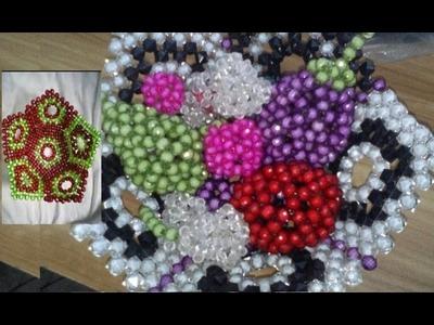 পুতির ঝুড়ি. শাপলা ঝুড়ি বানানো.How to make beaded Fruits basket.beaded basket