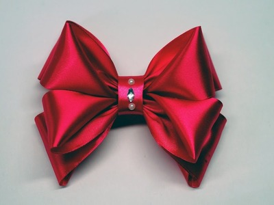 Decor crafts How to Make Simple Easy Bow of satin ribbons. ribbon bow diy. DIY beauty and easy