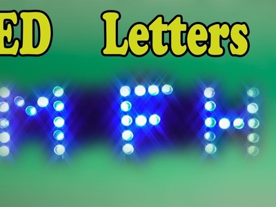 DIY How to make led letters
