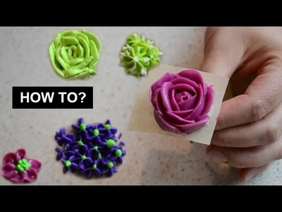DIY your Cake now! Make Perfect Buttercream Flowers - Tutorial