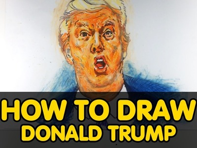 DONALD TRUMP How to draw  ? Step by step. ALL FOR KIDS CHANNEL