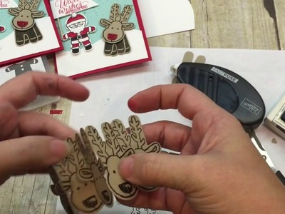 Friday Quickies: How to make a pop up Reindeer Card with Stampin Up's Cookie Cutter Christmas