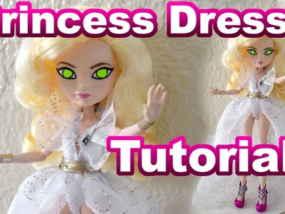 Give Away Month Week 2 Winner + Tutorial. How to Make a Princess Dress For Your Doll