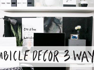How To Decorate a Cubicle, 3 Ways
