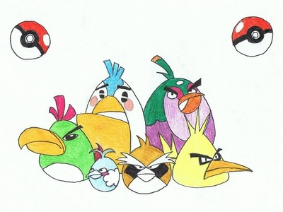 How to Draw Angry Birds Pokemon