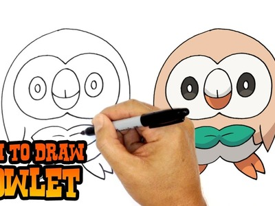 How to Draw Rowlet (Pokemon)- Art Lesson for Kids