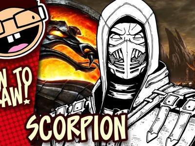How to Draw SCORPION (Mortal Kombat X) | Narrated Easy Step-by-Step Drawing Tutorial