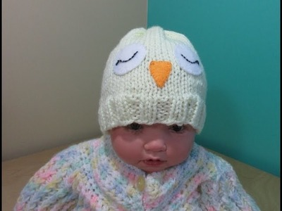 How to knit newborn owl hat for beginners