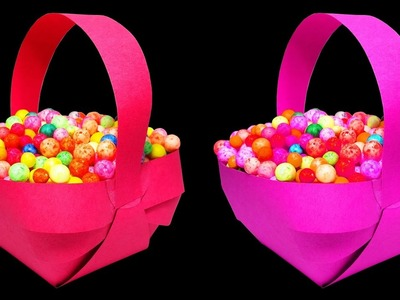 How to Make A Beautiful Paper Basket by easy steps : HD