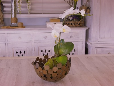 How to make a Kokedama Ball and Orchid Table Floristry Arrangement