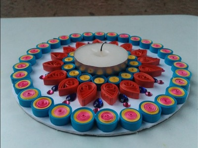 How To Make Easy Quilling Design Of Diya With the help of CD