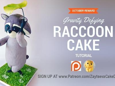 How to make gravity defying Raccoon Cake. Tutorial trailer