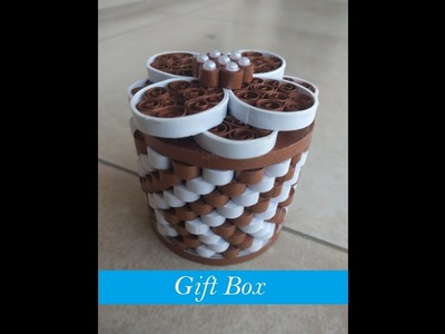 How to make Quilling Gift Box in 6 minutes !!
