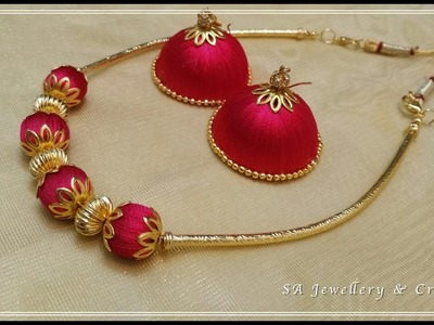 How to make Silk Thread Necklace at Home !!