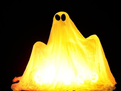 How to Make your own Ghost for Halloween (creepy)