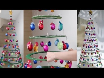 How To Making 2016 Christmas Tree | Cardboard Christmas Tree Simple And Easy