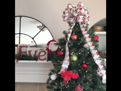 How To Tie a Christmas Bow That Has Wire