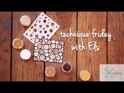 Technique Friday with Els - Sparkly Circle Background