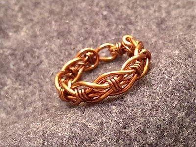 Tutorial twisted ring 1 - How to make wire jewelery