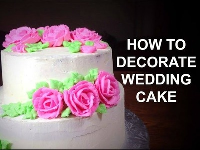 How To Make A Wedding Cake Part 2- Wedding Cake Decorating Video Tutorial by (HUMA IN THE KITCHEN)