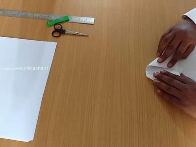 How to make paper aeroplane