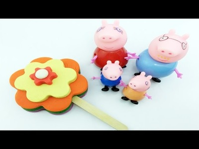How To Make Peppa Pig Play Doh Ice Cream Play Dough Popsicles Rainbow Flowers Colours for Kids