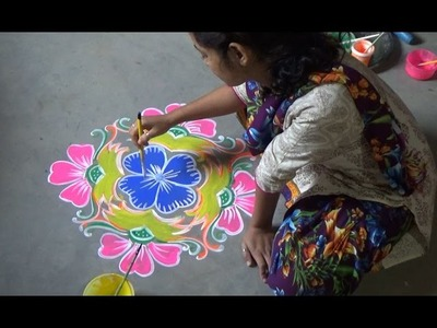 How to Paint Amazing Alpana. Rangoli Designs