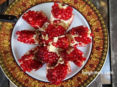 How to Peel and Cut a Pomegranate - Heghineh Cooking Show