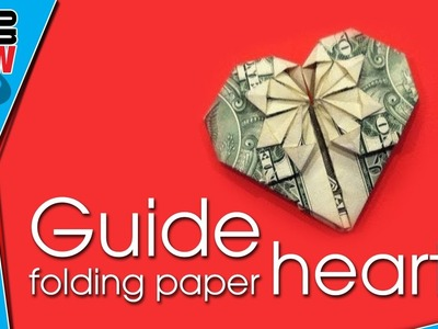 Origami heart - Make heart paper - How do it ?
