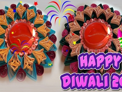 Paper Quilling Easy Rangoli designs For Diwali Home Decorating Ideas: How to Decorate Pramida Deepam