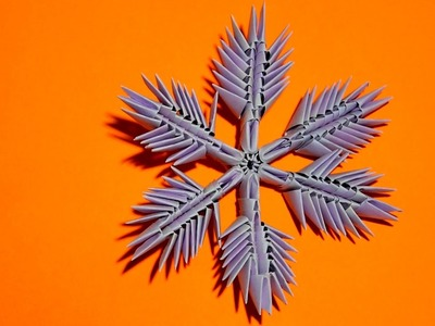 3D origami snowflake made of paper tutorial