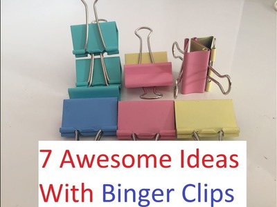 7 Awesome Ideas With Binder Clips - DIY Life Hacks
