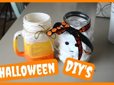 CUTE and EASY Halloween DIY Crafts!! | Caroline and Olivia