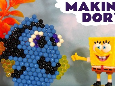 Disney Pixar Finding Dory Aquabeads with Spongebob - DIY making crafts and toys with water TT4U