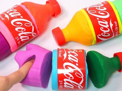 DIY How To Make Colors Play Doh Mini Coca Cola Bottle Learn Colors Gooey Slime Balloons